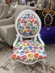 Sugar Skull Chair by TheFrabulousChair on Etsy, $750.00