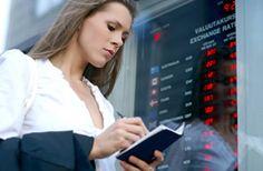 currency exchange woman passport travel money
