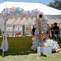 WEBSTA @ styled_by_coco - Carnival Extravaganza | Definitely one of our favs! Big love to @partywithlenzo for sharing this on their blog tonight 🎈🐘 Head on over to checkout some more gorgeous images from Harvey's 1st Birthday @mrsvk22 @mylittlecompanyphotography #carnival #1stbirthday #pastel #balloons #styledbycoco