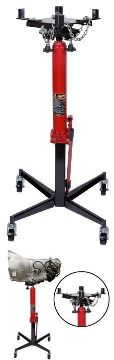 Torin TRA4053 Pedestal Transmission Jack - 1/2 Ton Capacity 1/2 ton capacity pedestal transmission jack with 49.6 inches to 68.7 inches high lift range. Durable steel and dipped enamel finish. Designed to use with in-ground and above-ground lifts and easy to remove or install any transmission from car or light truck, manual or automatic. Saddle adjusts to fit any transmission and safety chain tilt... #Torin_Jack #Automotive_Parts_and_Accessories