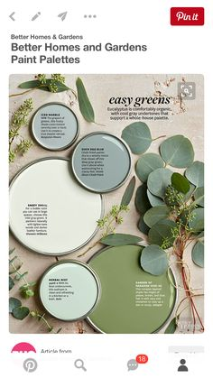 Easy Greens - nice shades of green paint