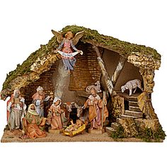 Fontanini 11-Piece Nativity Set with Italian Stable - 5-Inch Figures
