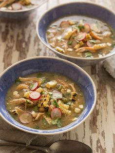 Spicy White Bean Chili with Shredded Chicken