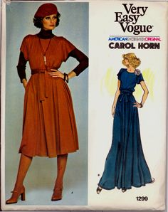 70s Carol Horn Evening Tent Dress Vogue by VintagePatternsCo1, $28.99