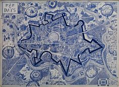View MAP OF DAYS, 2013 by Grayson Perry and learn more about the artwork at Galerie Maximillian, an art gallery in Aspen, CO. Grayson Perry Tapestry, Grayson Perry Art, Victoria Art, Art Fund, Map Art, Art Projects, Art Gallery, Artsy, Museum