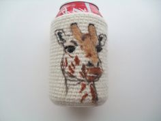 Felted Giraffe can cozy  koozie by Crystalcat1989 on Etsy #dteam