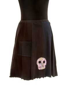 TSkirt Upcycled recycled appliqué grey/black by sardineclothing, $60.00