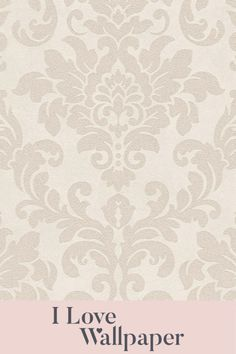 This contemporary finish oozes finesse and is suited to most interior colour schemes. This timeless damask design is brought to life with areas of metallic and touches of real glitter. Damask Wallpaper, Glitter Wallpaper, Love Wallpaper, Interior Color Schemes, Colour Schemes, Colorful Interiors, Metallic, Romantic, Beige