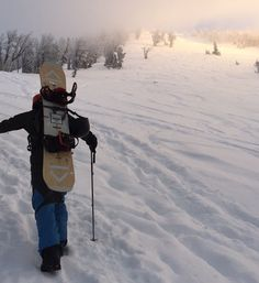 hiking up Glory with the Camber Coda. http://mtnweekly.com/reviews/snowboards/snowboard-reviews/arbor-coda-reviews