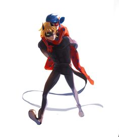 jesuisunjardin: Request: chat noir carrying ladybug on his back after she twisted her ankle :) What are friends for, right? music xx