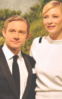 Martin Freeman and Cate Blanchett