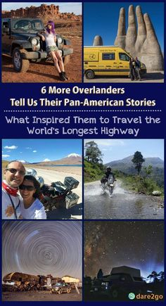 """The second part of our interview series, where we asked fellow overlanders """"what inspired you to travel the World's Longest Highway?"""" This time we feature a young single woman from Canada; a couple, married for 37 years, from Germany; a couple, who met surfing, from the US; a young couple on bikes from England; and finally a couple from Turkey, who drove from Alaska to Tierra del Fuego on a BMW motor bike. Each and every story is different and inspiring in its own right."""