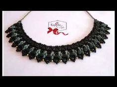 (36) Giza beaded necklace with kheops, superduos and 3mm bicones - Beading Tutorial - YouTube