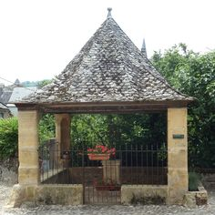 Day 3 of a long-distance walk along the Chemin de Saint-Jacques between Aumont-Aubrac and Figeac brings us to the most beautiful village of Saint-Côme-d'Olt St Jacques, France, Long Distance, Gazebo, Most Beautiful, Saints, Outdoor Structures, Paths, Kiosk