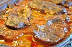 nakkekoteletter i flødesauce med tomat og persille koteletter i stegeso koteletter i rød sauce koteletter i Römertopf koteletter i paprikasa...