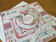 Handmade Layered Card using the Papermania Bellissima Collection.