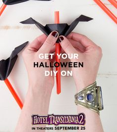 Halloween is the perfect time of year for a little crafting and DIY… Check out @followcharlotte 's bat straws for Hotel Transylvania 2! | #HotelT2 in theaters Sept 25