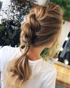 Pin by Katy Williams on Hair/Makeup Ideas Party Hairstyles, Girl Hairstyles, Strapless Dress Hairstyles, Face Hair, Crazy Hair, Hair Type, New Hair, Bridal Hair, Hair Inspiration