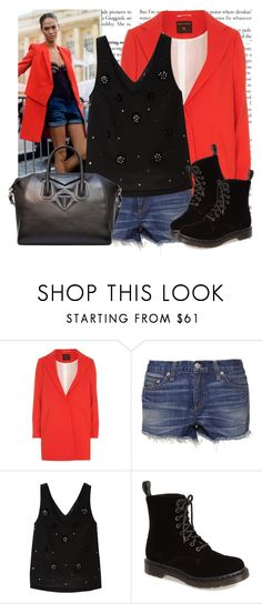 """Love on a train"" by drinaz ❤ liked on Polyvore featuring Dorothy Perkins, rag & bone, TIBI, Dr. Martens and Givenchy"