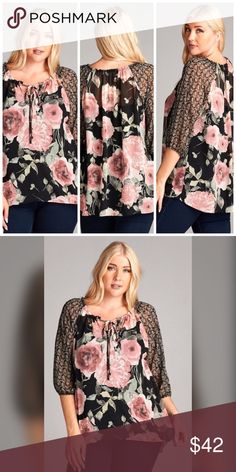 💖💖JUST IN!!!💖💖 Flawless Floral Top!! 100% polyester Tops