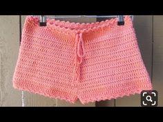 Short adulto fácil e rápido passo a passo💗 - YouTube Crochet Pants, Crochet Clothes, Crochet Baby, Crochet Top, Crochet Slipper Pattern, Crochet Slippers, Knitting Videos, Crochet Videos, Como Fazer Short