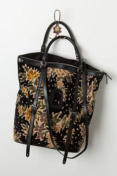 Winterbloom Velvet Tote #anthropologie wanting a new carry all tote