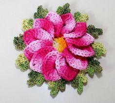 Flor Begônia Crochê | Passo a Passo | Luana Jaworski