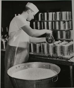 Our cheese pouring technique circa the early 1900s.