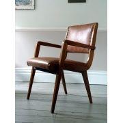Vintage Mid-Century Leather Desk Chair