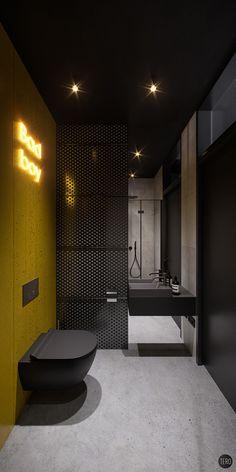 Insvire company office on Behance Washroom Design, Toilet Design, Bathroom Design Luxury, Gym Interior, Interior Architecture, Home Room Design, House Design, Masculine Bathroom, Contemporary Bathroom Designs