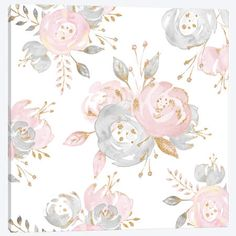 Roses Gold Glitter Pink By Nature Magick Duvet Cover by Nature Magick - Twin XL: x