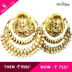 Beautiful earrings, Truly Ethnic.Shop Now- http://bit.ly/1KvizDI  #Salaam-e-Eid
