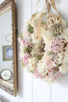 wreath made from her (June's) dried peonies -- by Laughing With Angels