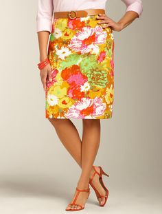 Talbots - Painterly Floral Pencil Skirt   Skirts   Woman
