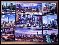 Vintage Postkarte, New York City. NY ist immer eine Reise wert, egal ob die Stadt oder der Staat New York.  #vintage #postkarte #postcard #usa #usareise #amerika #schreiben #newyork www.hamburgersafari.de