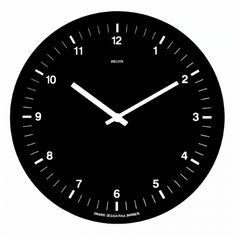 Orario Wall Clock Black by Rexite | design Raul Barbieri