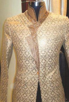 Mens Indian Ethnic Traditional Embroidered Wedding Sherwani Kurta Indowestern | eBay