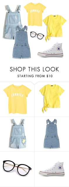 """yullo"" by classykate on Polyvore featuring MANGO, J.Crew, Dorothy Perkins and Converse"