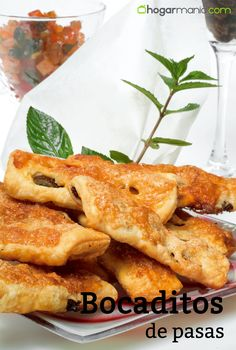 Receta bocaditos de pasas #cocina #postres #hojaldre #pasas