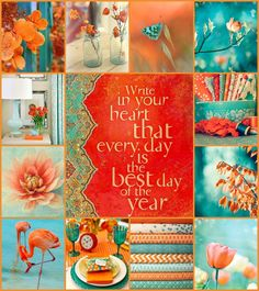 'Write in your heart that every day is the best day of the year.' moodboard by AT