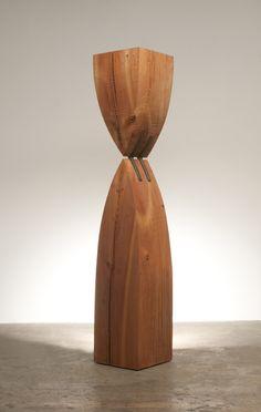 "Jack Larimore, Both And, 14"" x 73"" x 14"", Salvaged pine, bronze, 2012"