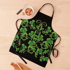 Apron Designs, Black Tie, Vines, Print Design, Women's Fashion, Printed, Awesome, Green, Pattern