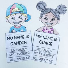 This FREE All About Me Flip Book comes with 28 different kid toppers and an editable box to add your student's names.