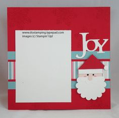Santa!  What a cute card this would make ... except instead of JOY I would say HoHoHo!
