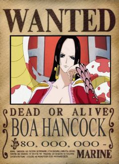 Wanted Boa Hancock - One Piece Poster Anime Echii, Anime Japan, Anime One, One Piece Anime, Anime Comics, Kawaii Anime, Anime Girls, Watch One Piece, One Piece Dress