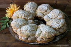 JULIA Y SUS RECETAS: Tarta paris brest con crujiente de galleta, rellena de trufa y corazón de nata