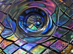 Glass Abstract 242     by S Loft  glass, abstract, reflections, prints, greeting cards, canvas prints, metal prints