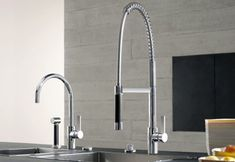 Tara Dornbracht kitchen faucet line was recently updated with two new additions: Tara Ultra single lever faucet and Tara Ultra single hole faucet. Clear, s