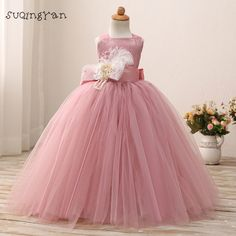 Cheap girls dress, Buy Quality little girls dresses directly from China birthday dress Suppliers: Blusher Pink 2017 Birthday Dress For Little Girls Tutu Gown Flower Girl Dresses With Sash Toddler Pageant Gowns Custom Flower Girls, Pink Flower Girl Dresses, Little Girl Dresses, Girls Dresses, Ivory Dresses, Girls Communion Dresses, Birthday Dresses, Monsoon Flower Girl Dress, Princesa Tutu