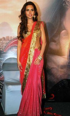 beautiful shaded sari